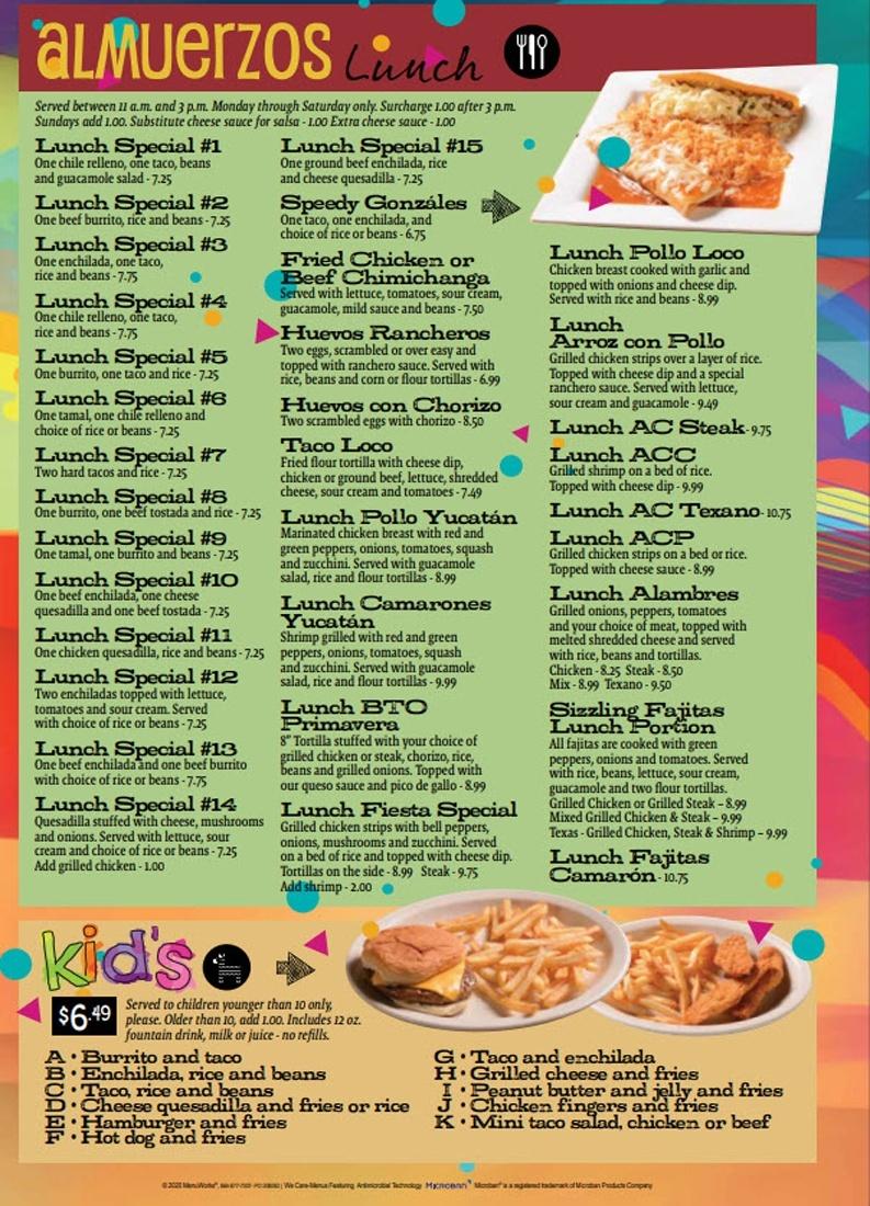 Lunch Menu Fiesta 09082020